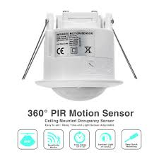 Ceiling Mounted Motion Sensor Light Switch Waterproof 360 Degree Smart Infrared Recessed Pir Ceiling Motion