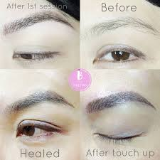 Semi Permanent Tattoo Eyebrows Hair Stroke Eyebrow Tattoo In Vancouver B For Brows