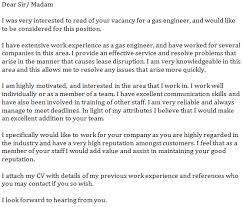 gas engineer cover letter example learnist org