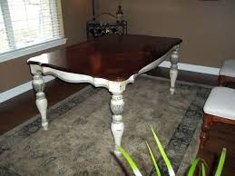 Refinishing Wood Dining Table Refinished Dining Table Painted Furniture Refinish Oak Table