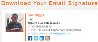 how to create custom email signature for free online like this one