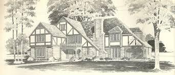 English Tudor Floor Plans Vintage House Plans 1970s English Style Tudor Homes Antique