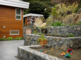 sandboxes in landscape contemporary with edible front yard next to