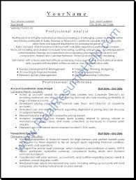 Resume Manager It Business Analyst Resume Resume Template Catchy For Business