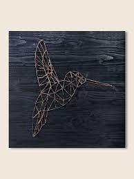 String Art Hummingbird art geometric wall art decor minimalist
