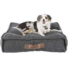 Kirkland Dog Bed Restology By Precious Tails Gray Memory Foam Orthopedic Bolster