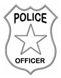 police badge colouring pages college profession logos