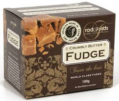 fudge gift boxes radfords crumbly butter fudge 100g gift box