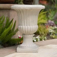 Urn Planters With Pedestal Home Loft Concepts Italian Stone Urn Planter U0026 Reviews Wayfair