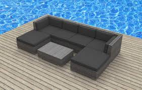 All Weather Wicker Patio Furniture Sets - urban furnishing maui 7pc modern wicker rattan patio furniture