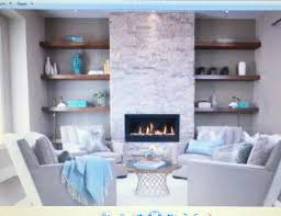 the floating shelves surrounding bumped out tv fireplace wall a