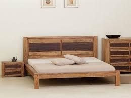 chambre acacia lit avec sommier oasis 160 x 200 cm acacia massif