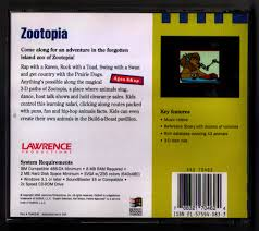zootopia an obscure pc relic featuring weird cartoons and rapping