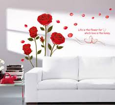 buy decals design romantic rose flowers wall sticker pvc vinyl buy decals design romantic rose flowers wall sticker pvc vinyl 50 cm x 70 cm online at low prices in india amazon in