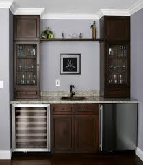 Wet Bar Set Bar Cabinet Design Plan With Twin Tower Glass Cabinetry Unit And