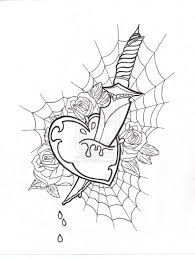 heart tattoo u2013 dagger heart design tattooshunter com