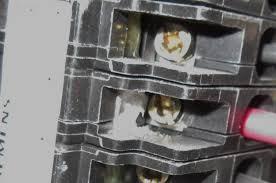 efflorescence on an electrical breaker internachi inspection forum