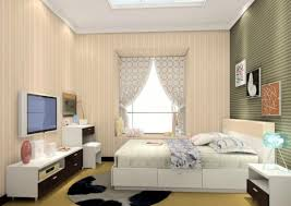 modern bedroom with tv interior design