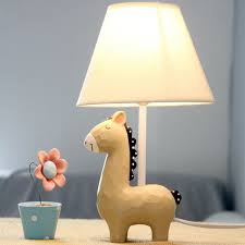cartoon small horse lovely table lamp bedside desk desktop light