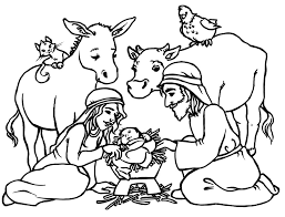 free printable nativity coloring pages for kids with baby jesus
