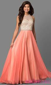 coral pink quinceanera dresses coral prom dresses beaded bodices promgirl
