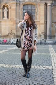 dresses with boots floral babydoll dress and knee boots the styling