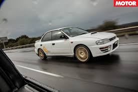 white subaru black rims subaru wrx celebration 1st generation motor