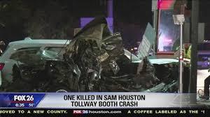 photo booth houston crash kills driver at toll booth on sam houston tollway