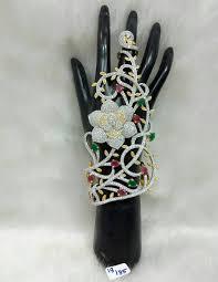 bridal bracelet with ring images Wedding bridal bracelet with finger ring jpg