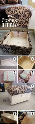 Diy Storage Ottoman 15 Easy Diy Ottoman Ideas You Can Make On A Budget