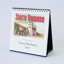 2018 easel desk calendar santa barbara easel desk calendar 2018 santa barbara company