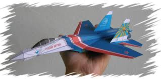 3d paper model airplanes print outs modern jets realistic 3d paper airplane models
