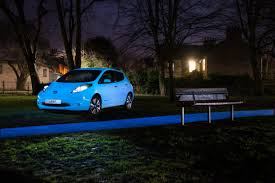 nissan dark blue this glow in the dark nissan leaf looks like an alien the news wheel
