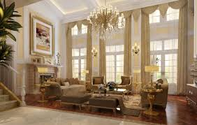 living room luxury interior design ideas with gold metal shade