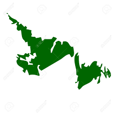Newfoundland Canada Map by Map Of Newfoundland Province Or Territory In Canada Isolated