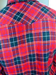 Plaids Red U0026 Green Plaids Shirt Design Closeup