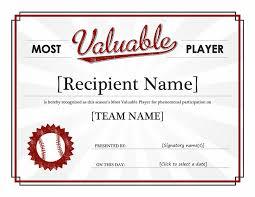 mvp certificate template