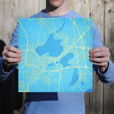 Madison Wisconsin Map by Madison Wisconsin Map Art City Prints