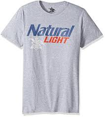 natty light t shirt amazon com anheuser busch men s natural light short sleeve graphic