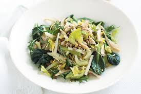 jicama chicken and celery salad with toasted seeds