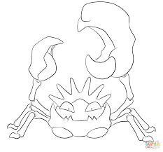kingler coloring page free printable coloring pages