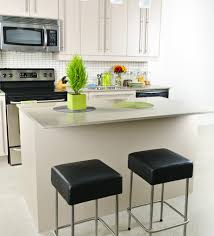 appealing small apartment kitchen with rectangle shape white brown