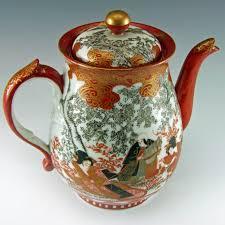 Japanese Kutani Vases Japan Meiji Period Kutani Porcelain Teapot