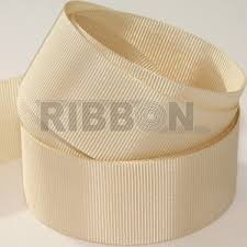 ivory ribbon 50m x 15mm grosgrain ribbon oyster ivory