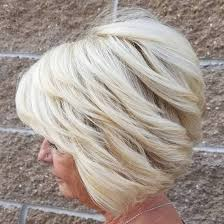 stacked shortbhair for over 50 80 best modern haircuts and hairstyles for women over 50 blonde