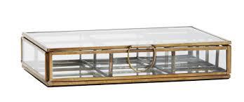 deco scandinave en ligne boite bijoux en verre compartimenté vitrine doré miroir oranjade