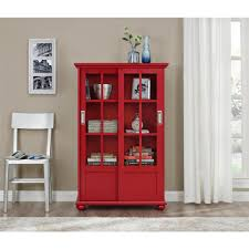 Bookshelves Glass Doors by Altra Furniture Aaron Lane Navy Glass Door Bookcase 9448596com