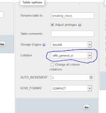 cara membuat database dengan mysql front mysql how to display utf 8 characters in phpmyadmin stack overflow