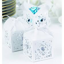 wedding favor box 25ct square heart die cut wedding favor box white target