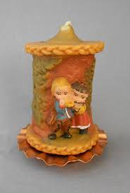 gunter vintage german u0027kinder musiker u0027 hand carved wax candle with